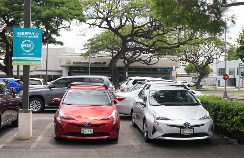 Photo of the Hui Station at Servco Lexus Used Car Lot